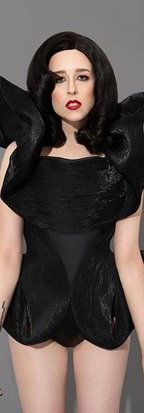 Alliex Nylon zipper ruffled corset