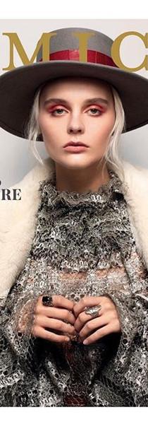 Amica Bg silver lace blouse
