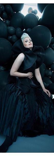 Jihan Zincerli for XOXO magazine Nylon zipper ruffled corset