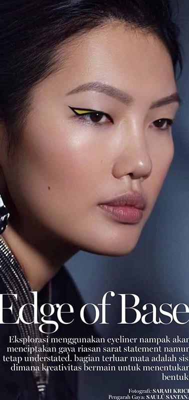 Marie Claire Indonesia zipper collar