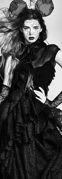 Helena Gatsby x Chaos magazine Lace gown