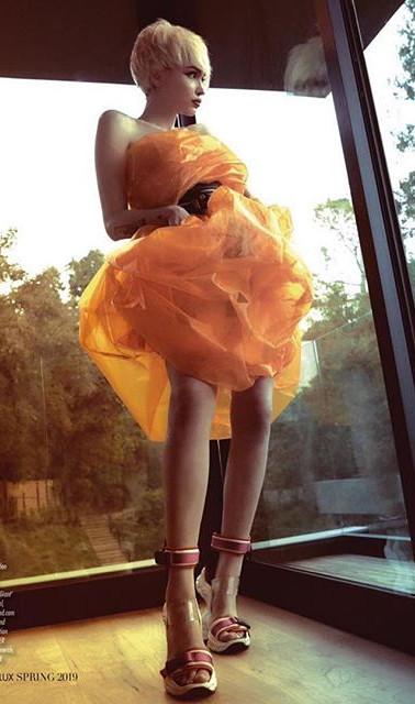 Genlux Magazine glossy organza dress