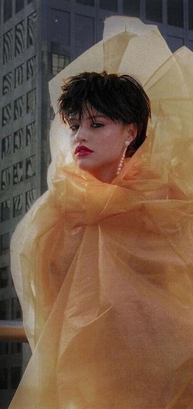Gabriette for Galore Magazine glossy organza dress