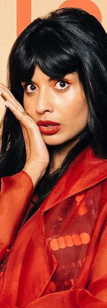 Jameela Jamil x Nylon Magazine silk organza trench
