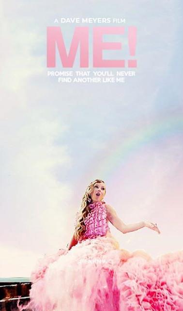 "Taylor Swift ""ME"" silk ruffled top"