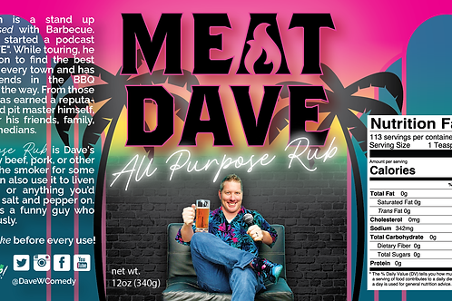Meat Dave All Purpose  Rub