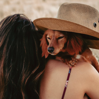 Cute girl and dog portrait photoshoot