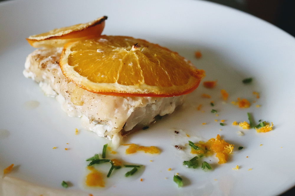 Love this recipe for a baked cod with zestful citrus flavors and aromas.