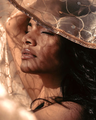 Closeup Creative Portrait Desert Photoshoot with LA Model