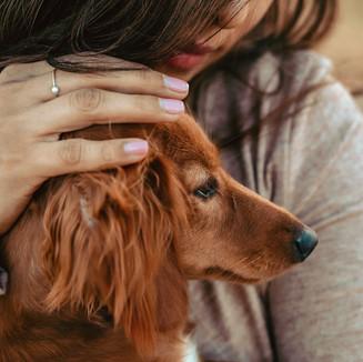 Girl and dog desert portrait shoot