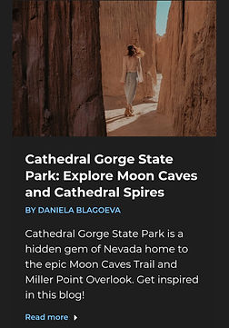 Daniela Blagoeva featured in Magnificent World with travel guide to Cathedral Gorge State
