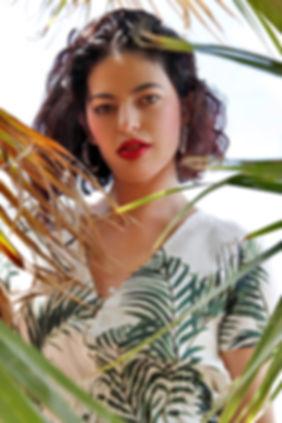Model, Fashion, Palm Trees, Tropical Portrait, Las Vegas Portrait Photographer, Summer Photoshoot