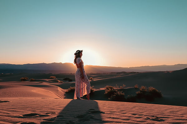 Travelingwithriley Instagram travel fashion photoshoot in Death Valley sand dunes. Photo by Daniela Blagoeva travel destination photographer based in Las Vegas, Sofia Bulgaria, available worldwide