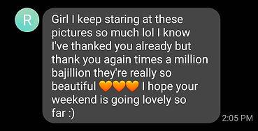 Screenshot of positive client testimonial for Daniela Blagoeva portrait photographer in Las Vegas, NV
