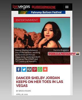 Shelby Johnson portrait photo by Daniela Blagoeva featured in Las Vegas Magazine
