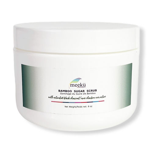 Bamboo Sugar Scrub   Moisturizing   Face and Body   Activated Charcoal