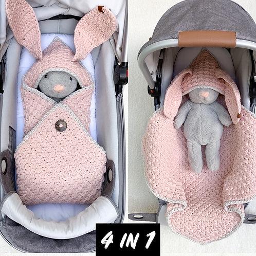 Baby Schlafsack Wickelsack LOU LOU 4in1