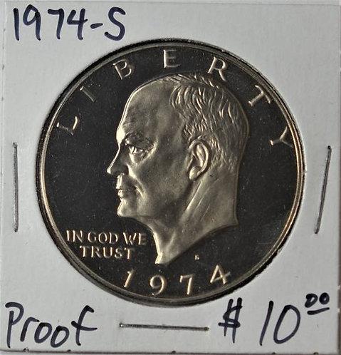 1974-S Proof Eisenhower Dollar