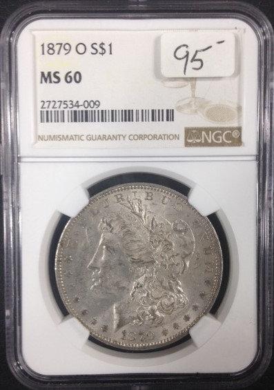1879-O Morgan Dollar NGC MS60