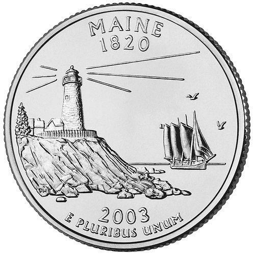 2003-D Maine Statehood Quarter in BU