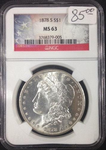 1878-S Morgan Dollar NGC MS63