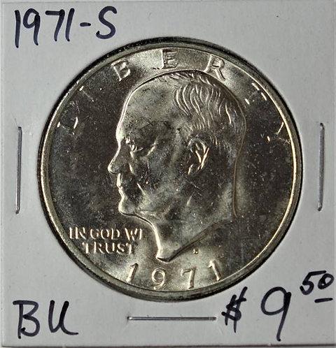 1971-S Eisenhower Dollar in BU (40% Silver)