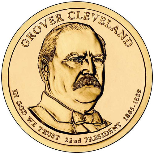 2012-P Grover Cleveland (1st term) Presidential Dollar in BU