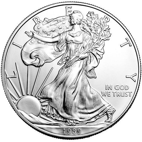 1989 1-oz American Silver Eagle in BU