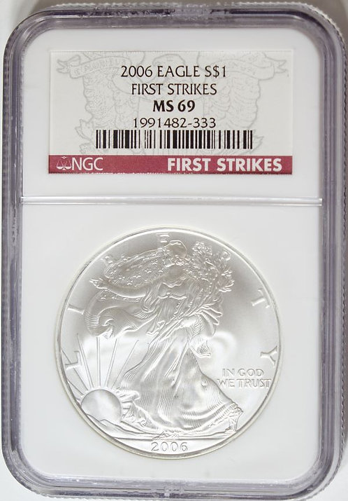 2006 1-oz American Silver Eagle NGC MS69 - First Strikes