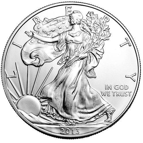2013 1-oz American Silver Eagle in BU