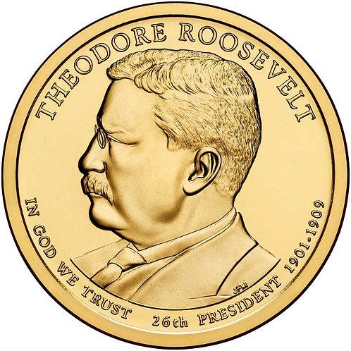 2013-P Theodore Roosevelt Presidential Dollar in BU