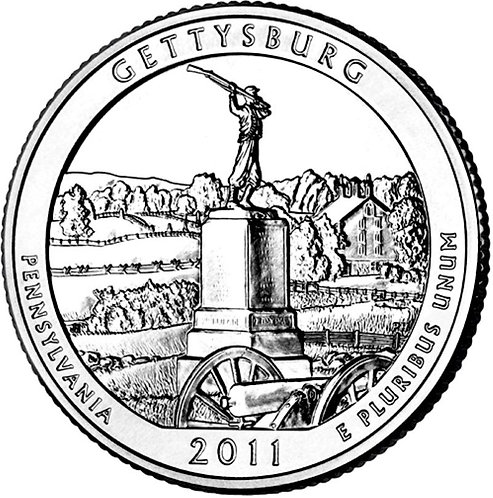 2011-D Gettysburg National Park Quarter in BU