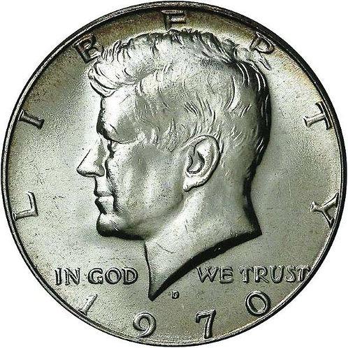 1970-D Kennedy Half Dollar in BU