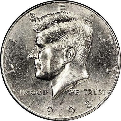 1998-P Kennedy Half Dollar in BU