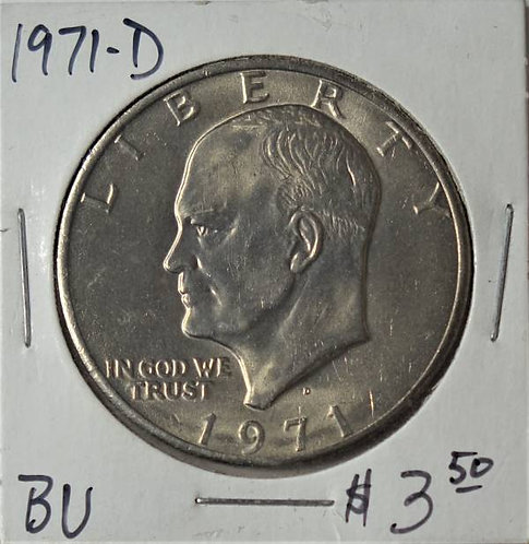 1971-D Eisenhower Dollar in BU