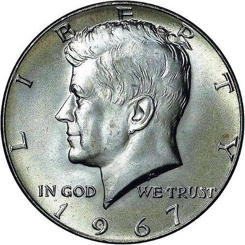 1967 Kennedy Half Dollar in BU