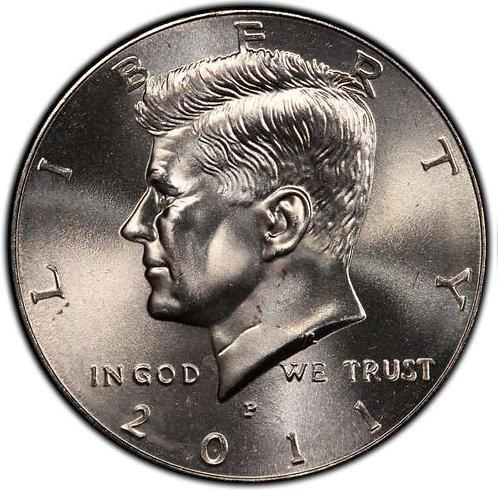 2011-P Kennedy Half Dollar in BU