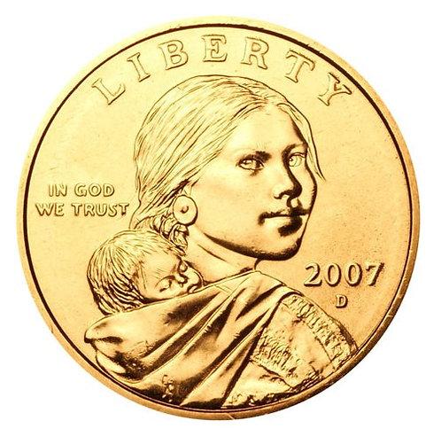 2007-D Sacagawea Dollar in BU