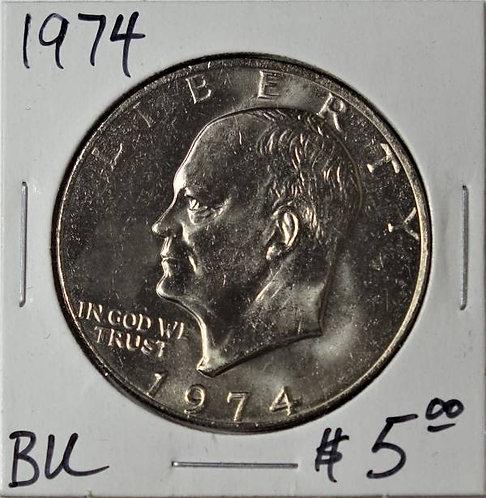 1974 Eisenhower Dollar in BU