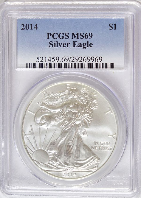 2014 1-oz American Silver Eagle PGCS MS69