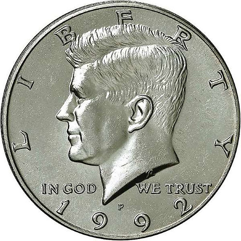 1992-P Kennedy Half Dollar in BU