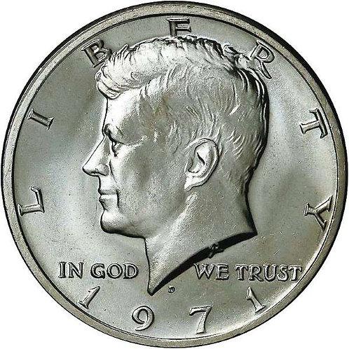 1971-D Kennedy Half Dollar in BU