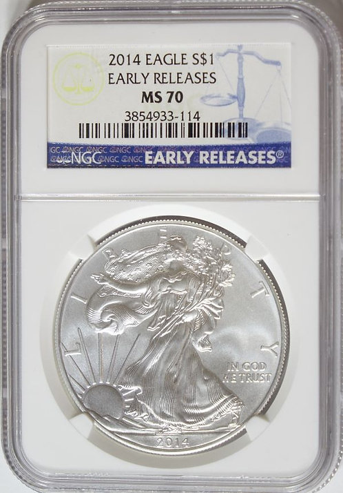 2014 1-oz American Silver Eagle NGC MS70