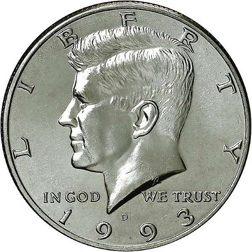 1993-D  Kennedy Half Dollar in BU