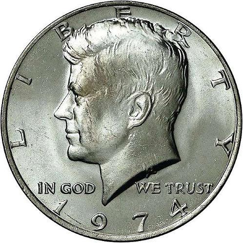 1974 Kennedy Half Dollar in BU