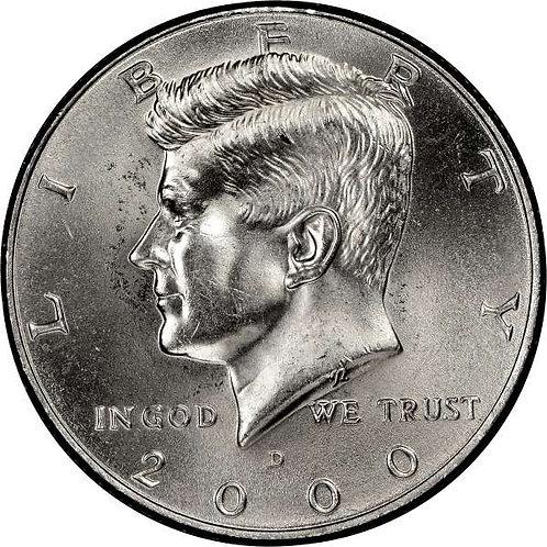 2000-D Kennedy Half Dollar in BU