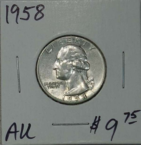 1958 Washington Quarter in AU