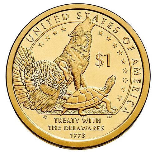 2013-D Native American Dollar in BU