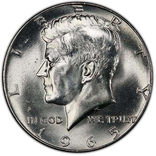 1965 Kennedy Half Dollar in BU
