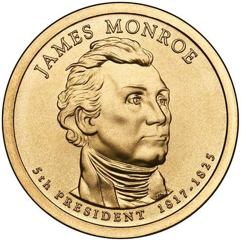 2008-P James Monroe Presidential Dollar in BU